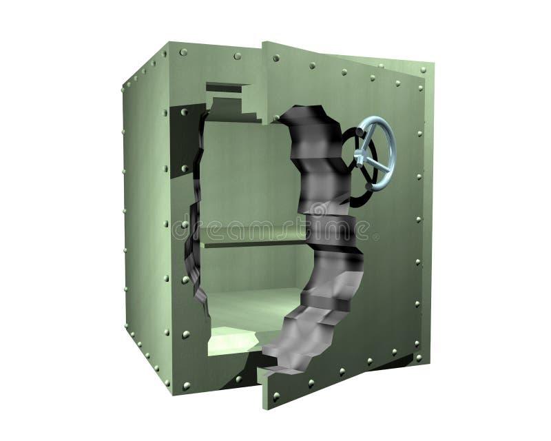 Caja fuerte quebrada ilustración del vector