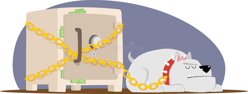 Caja fuerte y perro libre illustration