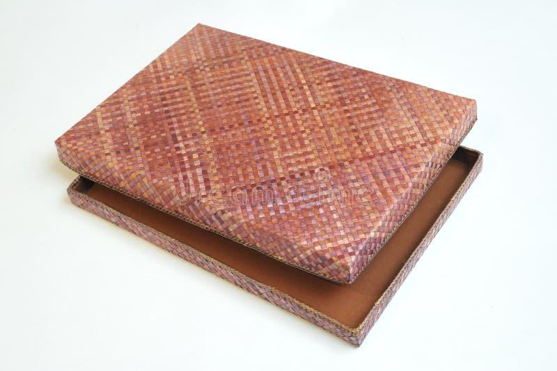 Caja handcrafted Pandanus foto de archivo libre de regalías
