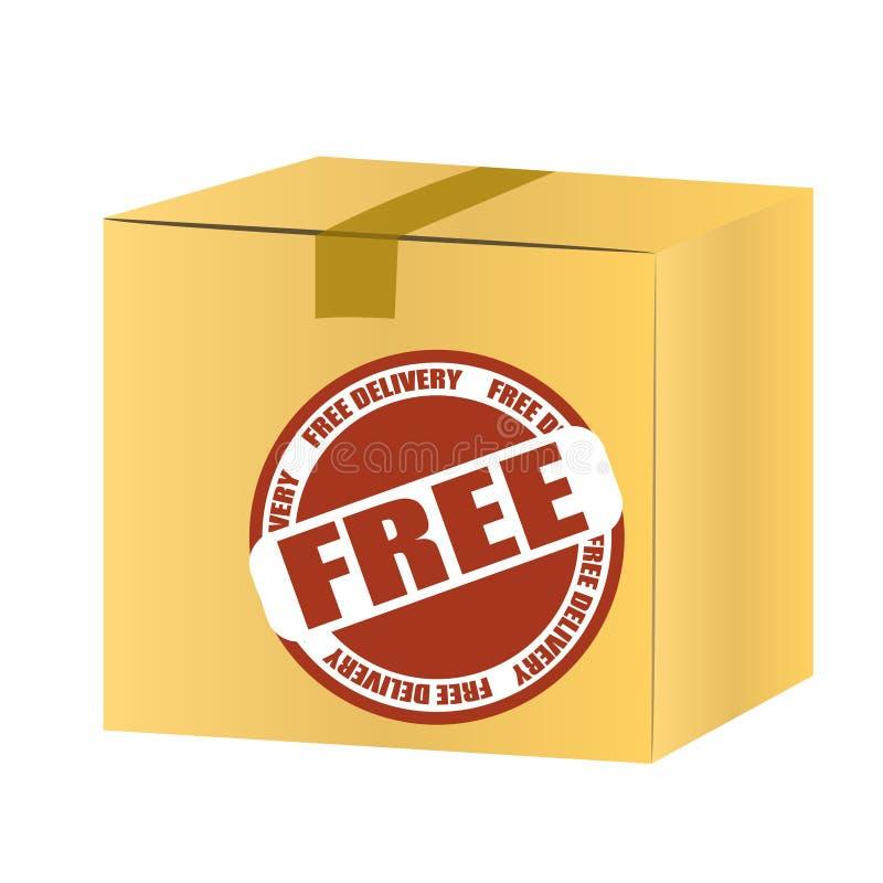 Caja libre de la entrega stock de ilustración