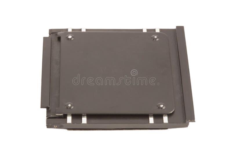 Caja metálica de la diapositiva de la foto imagenes de archivo