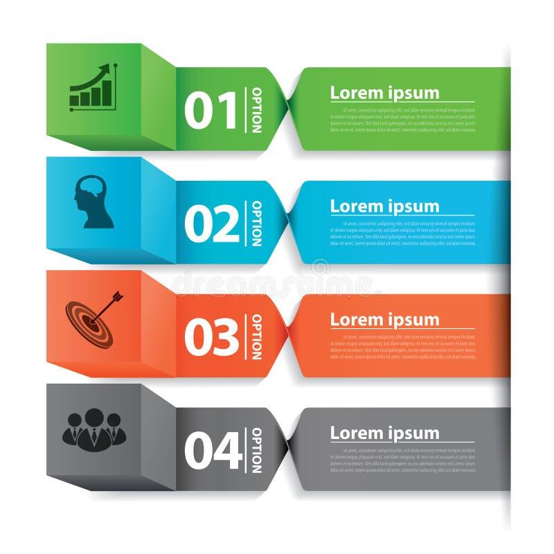 Caja moderna de la bandera del negocio infographic libre illustration
