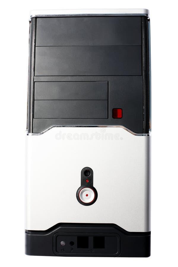 caja Negro-blanca del ordenador fotos de archivo
