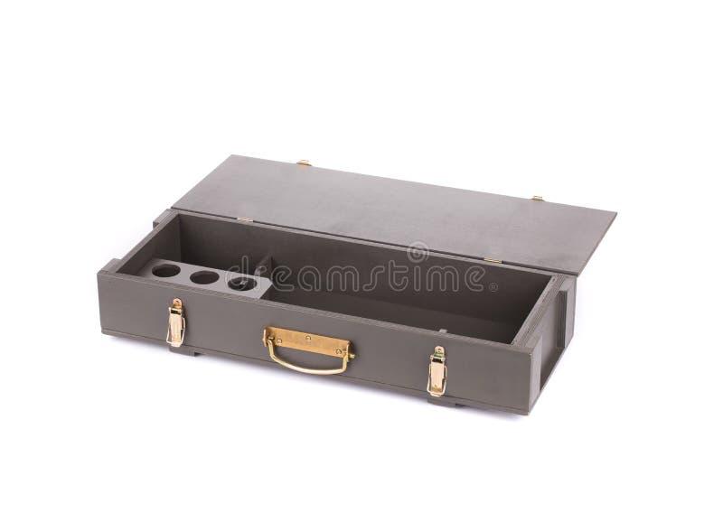 Caja para la botella del rifle del Kalashnikov AK imágenes de archivo libres de regalías