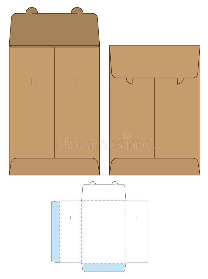 Caja que empaqueta dise?o cortado con tintas de la plantilla maqueta 3d libre illustration