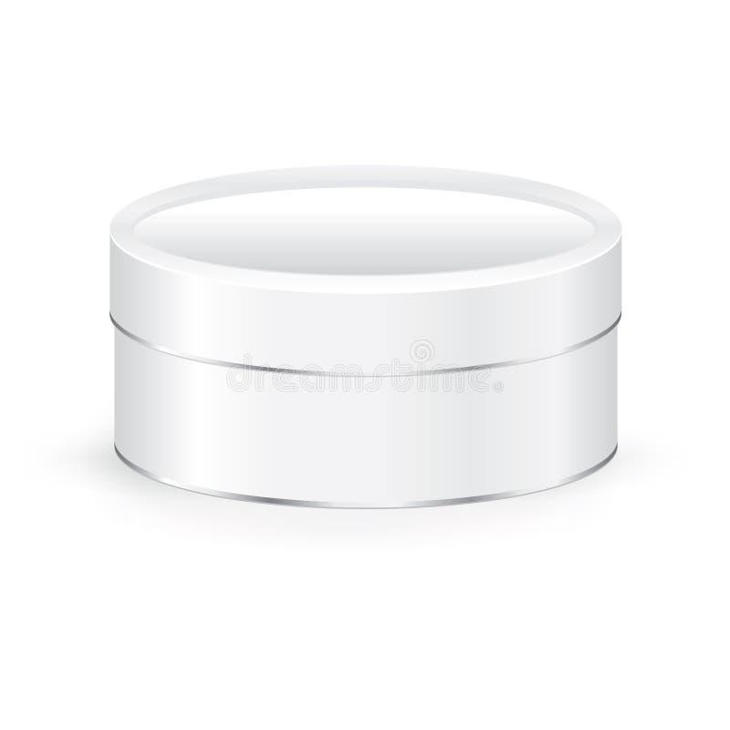Caja redonda de la lata de la galleta ilustración del vector