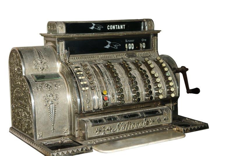 Caja registradora de la vendimia imagen de archivo