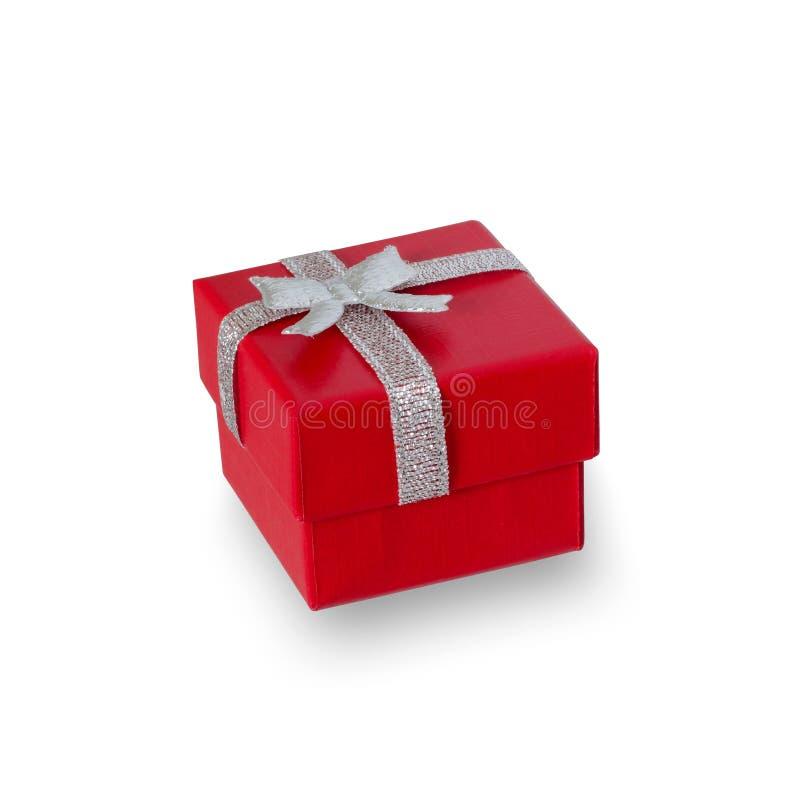 Caja roja para la joyer?a Aislado fotos de archivo