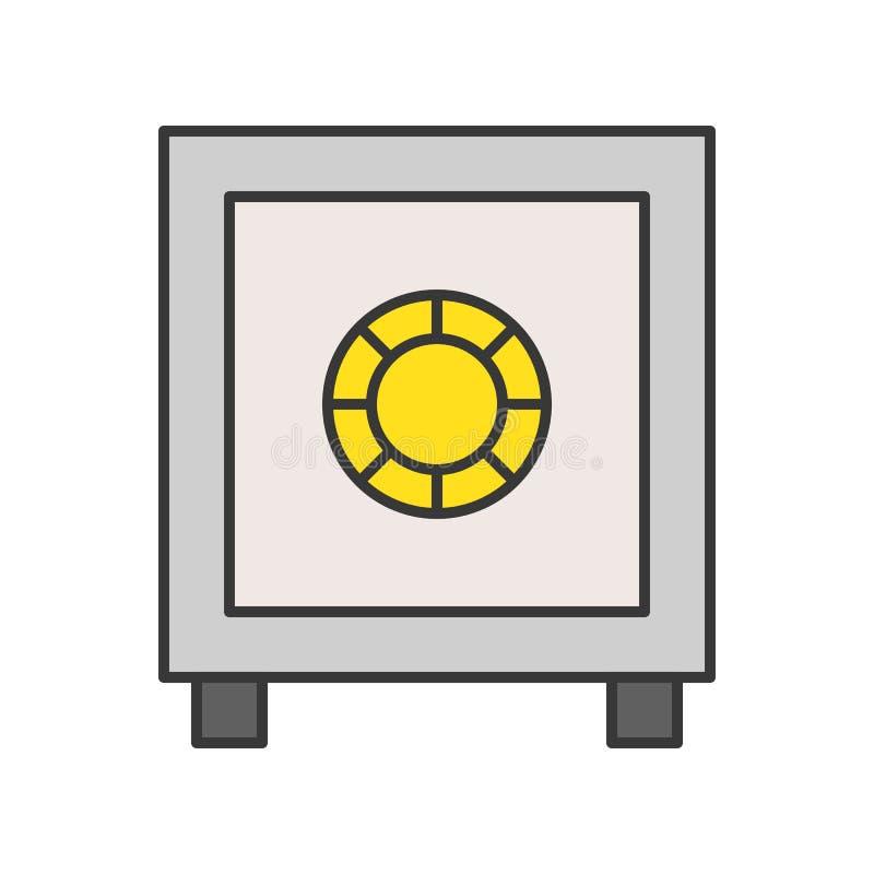 Caja segura, movimiento editable del icono relacionado del esquema de la policía stock de ilustración