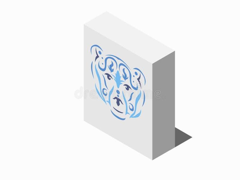 Caja tribal del paquete de la cartulina del oso libre illustration