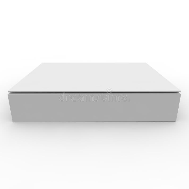 Caja vacía en un fondo blanco ilustración del vector