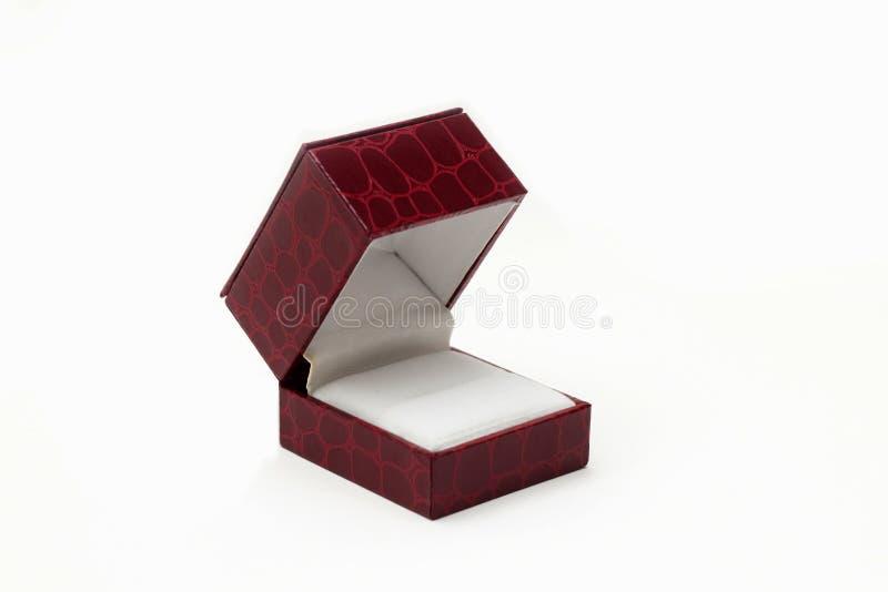 Caja vacía para el anillo de compromiso fotografía de archivo libre de regalías