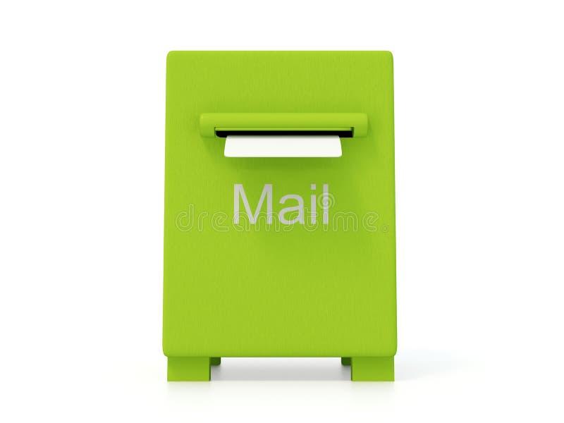 Caja verde stock de ilustración