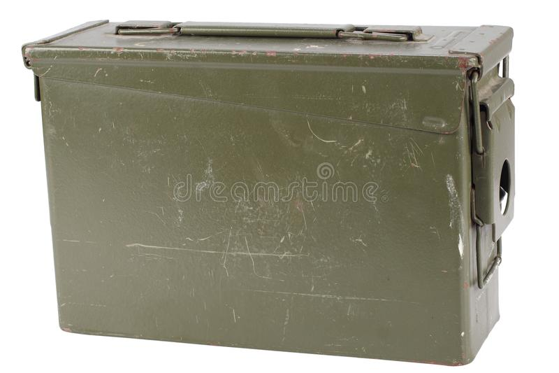 Caja verde de la munición del Ejército de los EE. UU. imagenes de archivo
