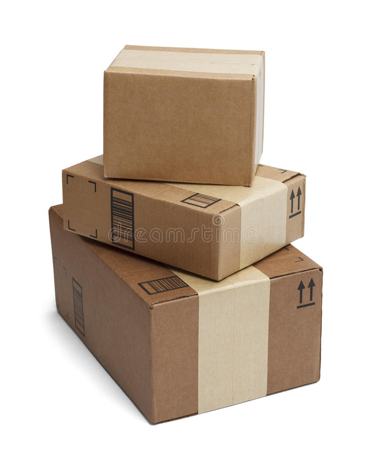 Cajas apiladas fotografía de archivo