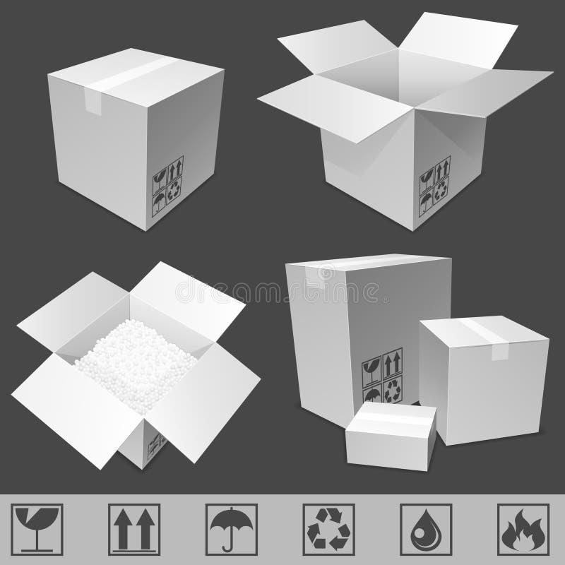 Cajas de cartón. ilustración del vector