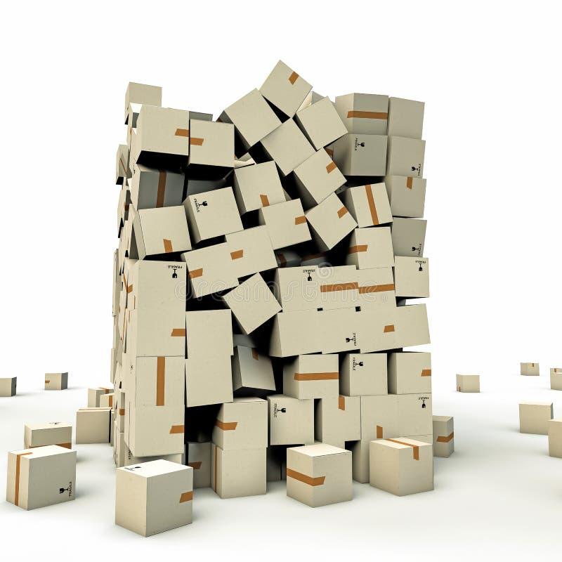 Download Cajas de cartón stock de ilustración. Ilustración de rectángulo - 42443586