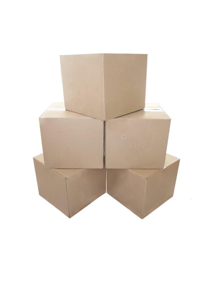 Cajas de cartón empiladas foto de archivo