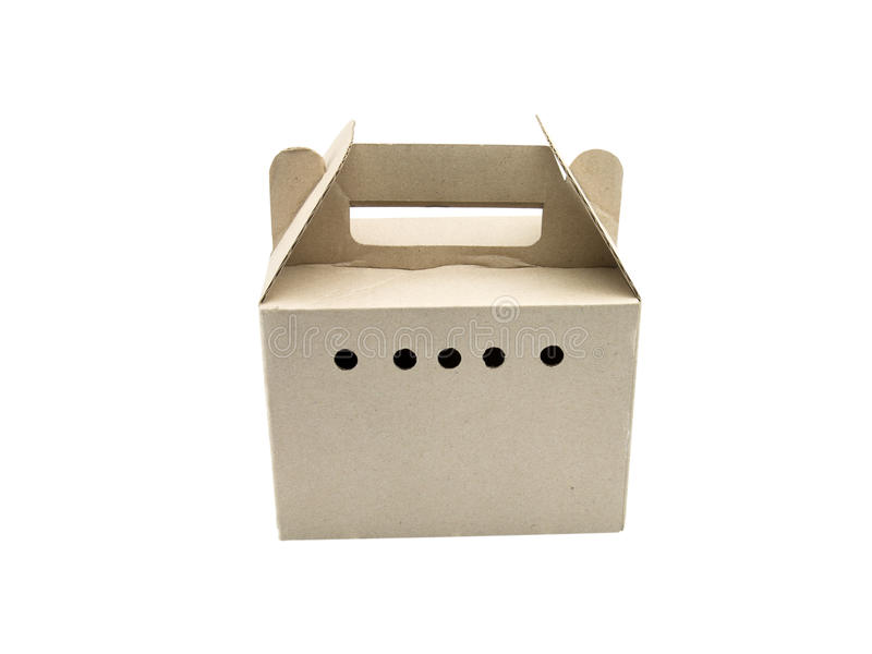 Cajas de cartón en el fondo blanco fotos de archivo