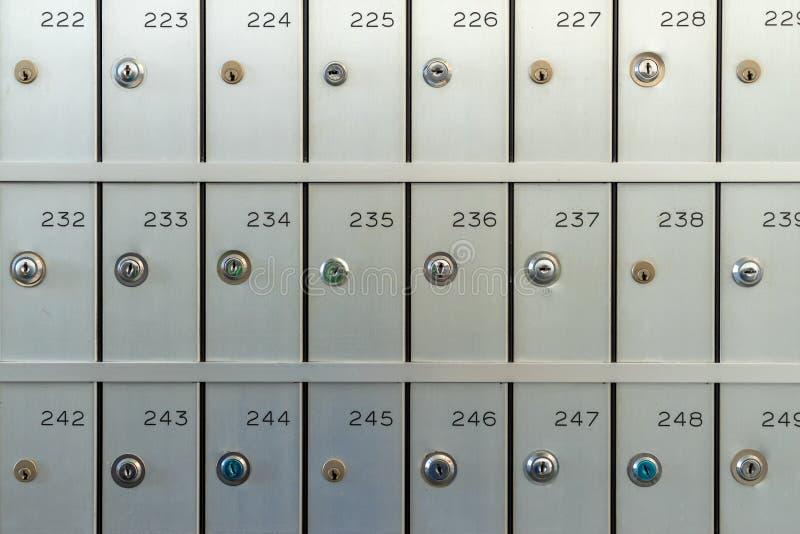 Cajas de depósito seguro para el alquiler fotografía de archivo