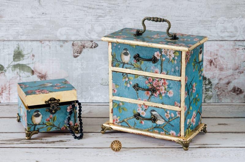 Cajas de joyería fotografía de archivo