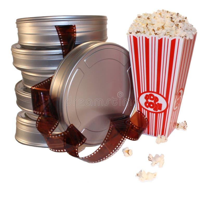 cajas de la película de película foto de archivo