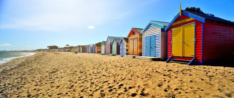 Cajas de la playa de Brighton fotos de archivo