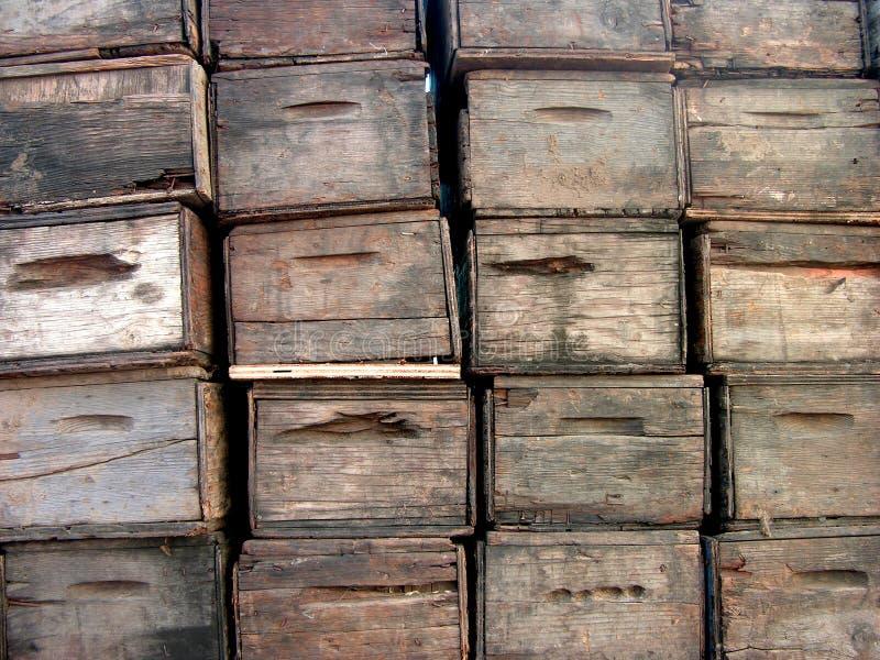 Cajas de la producción foto de archivo libre de regalías
