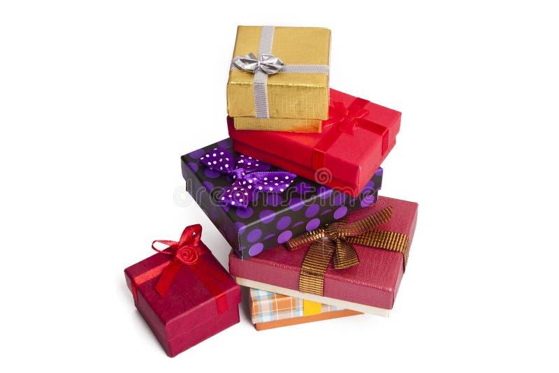 Cajas de regalo foto de archivo
