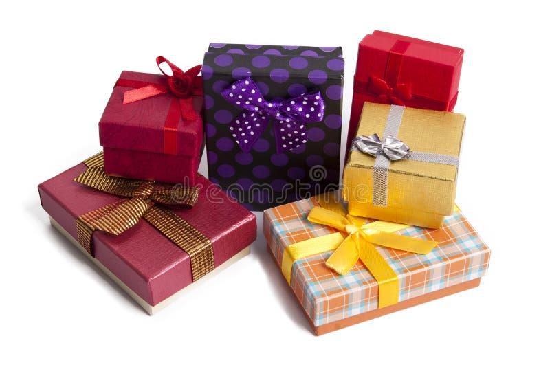 Cajas de regalo fotografía de archivo libre de regalías