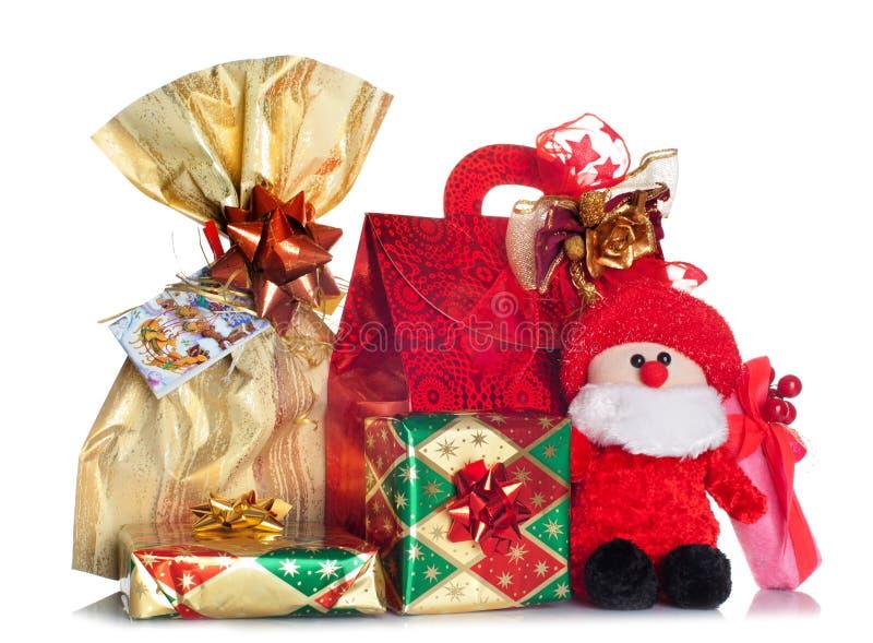 Cajas de regalo adornadas con la cinta fotos de archivo libres de regalías