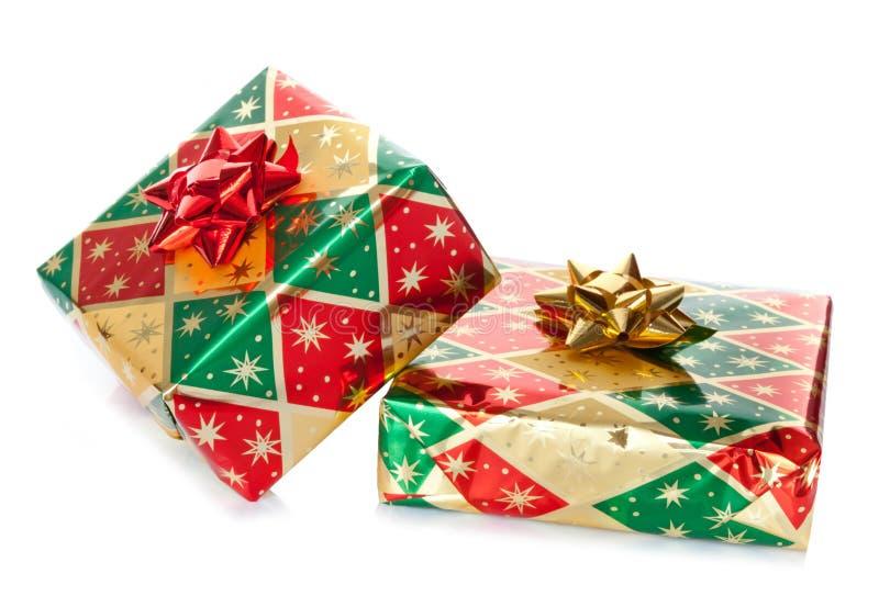 Cajas de regalo coloridas imagenes de archivo