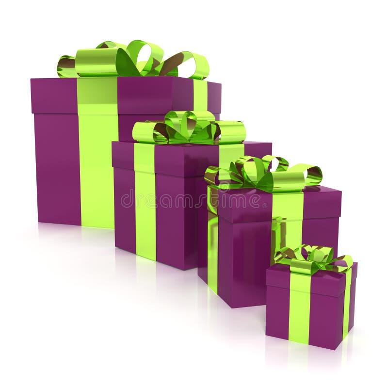 Cajas de regalo envueltas stock de ilustración