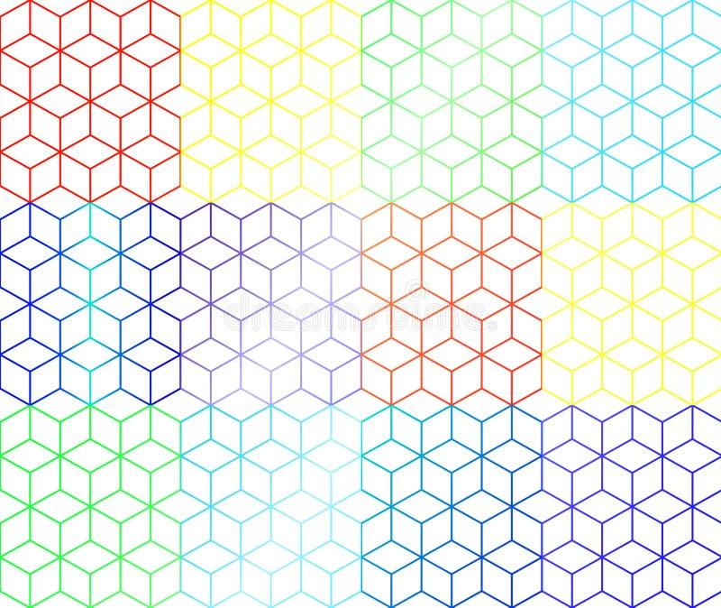 Cajas del arco iris imagen de archivo libre de regalías