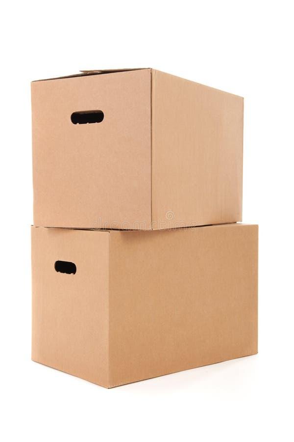 Cajas del cartón imágenes de archivo libres de regalías