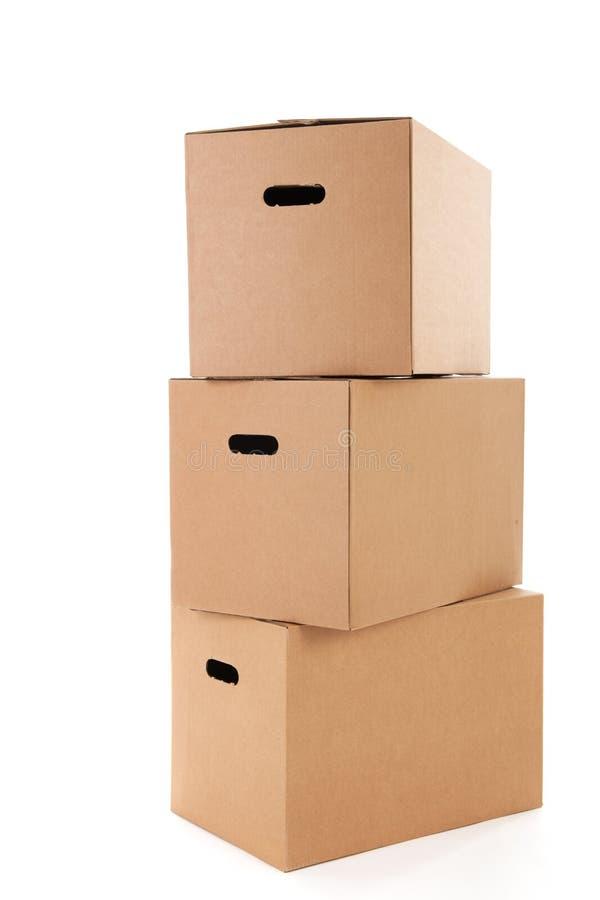 Cajas del cartón foto de archivo