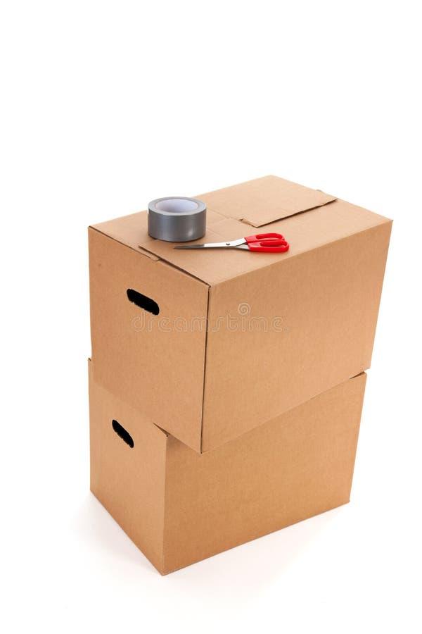 Cajas del cartón imagen de archivo