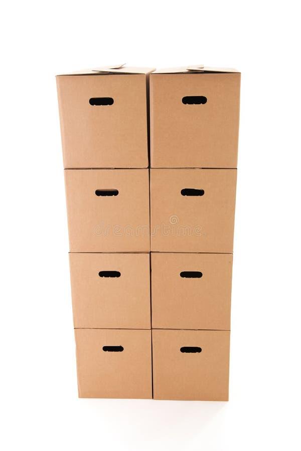 Cajas del cartón foto de archivo libre de regalías