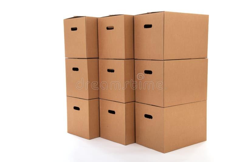 Cajas del cartón fotografía de archivo