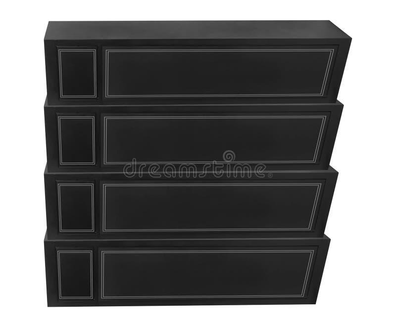 Cajas del metal aisladas en blanco fotos de archivo