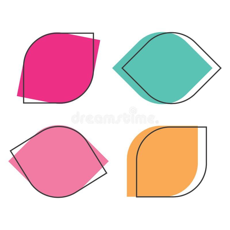 Cajas que mandan un SMS Nota coloreada del texto de la plantilla de la burbuja del discurso de la caja de la cita libre illustration