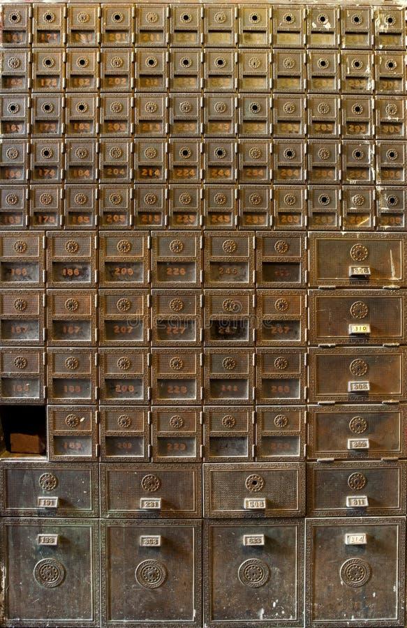 Cajas viejas fotografía de archivo libre de regalías