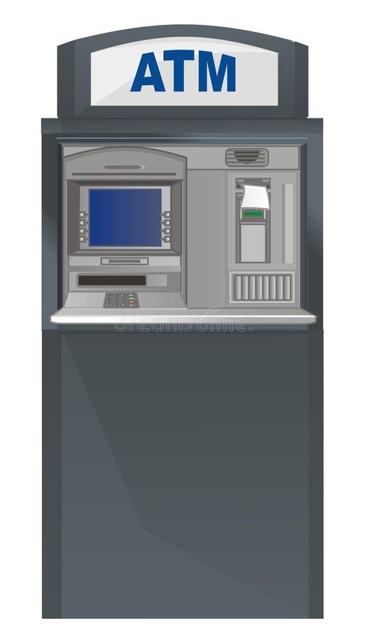 cajero automático con el control ilustración del vector