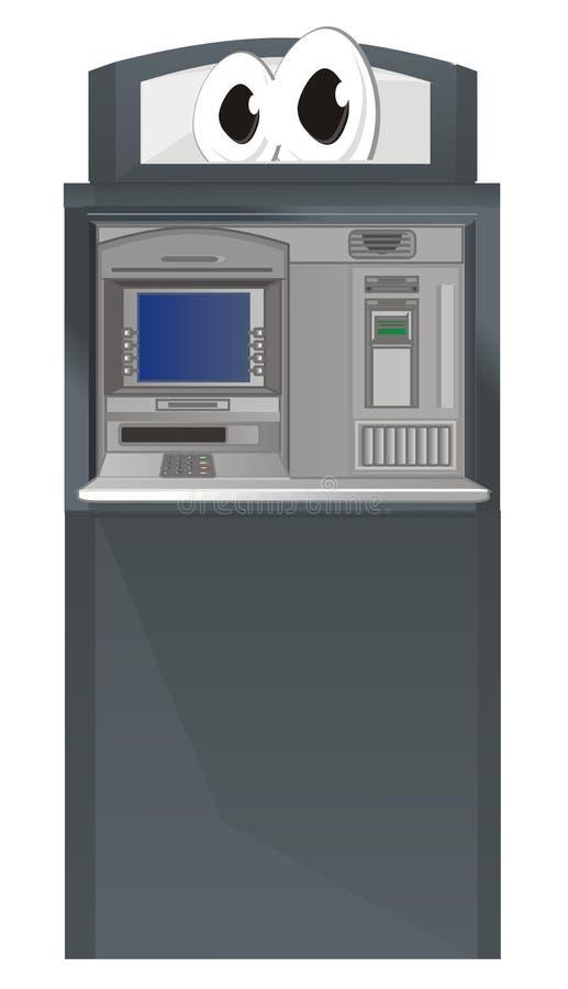 cajero automático con los ojos ilustración del vector