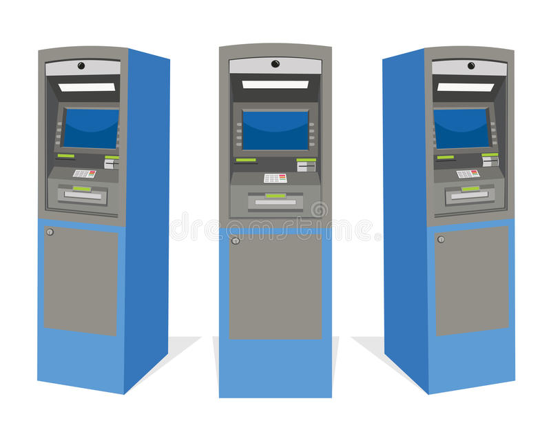 Cajero automático del banco de la atmósfera stock de ilustración