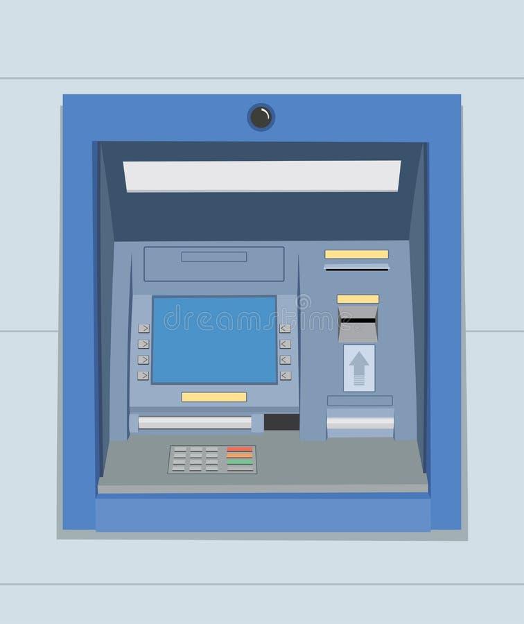 Cajero automático del banco de la atmósfera en la pared stock de ilustración