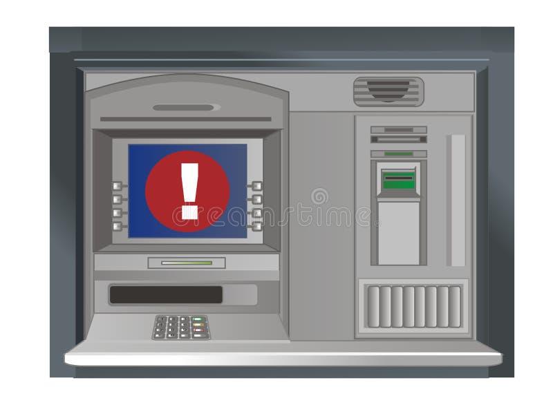 cajero automático y marca roja stock de ilustración