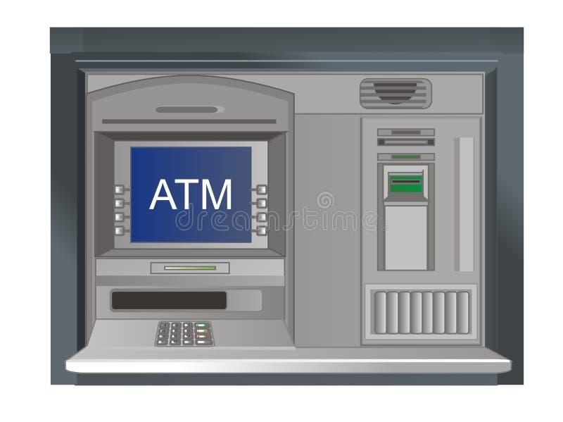 cajero automático y su nombre stock de ilustración