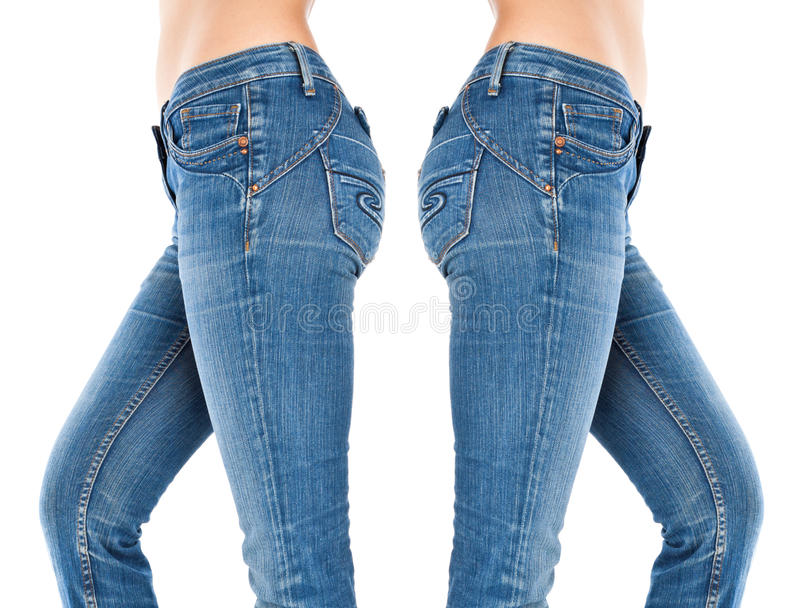 cajg błękitny żeńskie nogi zdjęcie stock