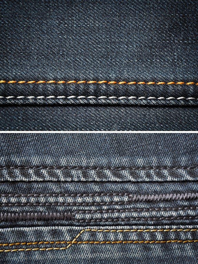 Cajg tkaniny tekstura zdjęcie stock